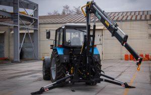Кран-манипулятор на трактор МТЗ (гидроманипулятор)